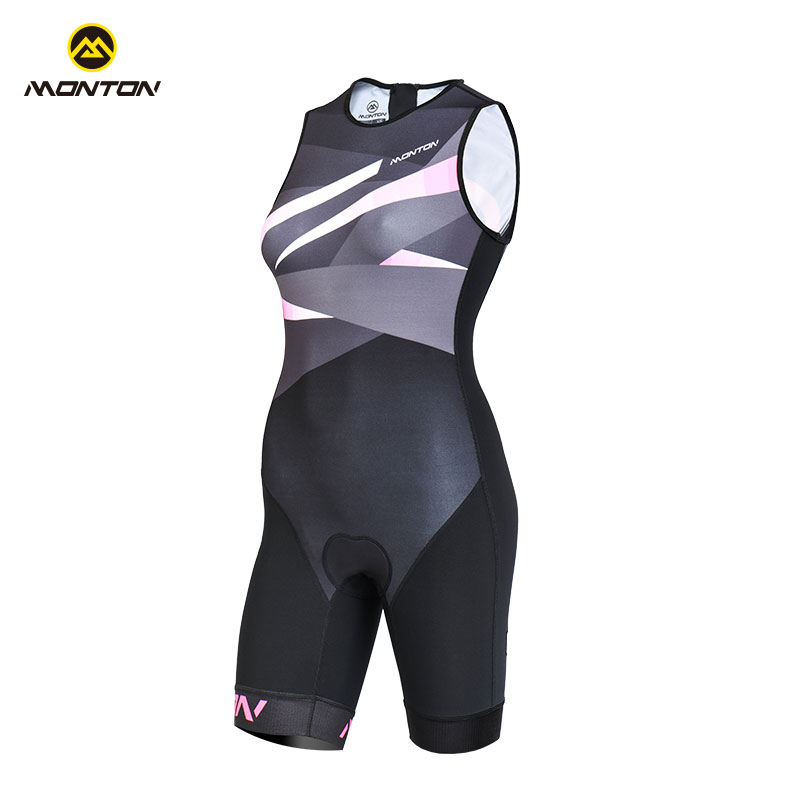 Monton Pulse Iron Tri-suit Cycling Clothes Uniform Clothes High-elasticity Lady Sports Comfort Breathable Equipment Starlight