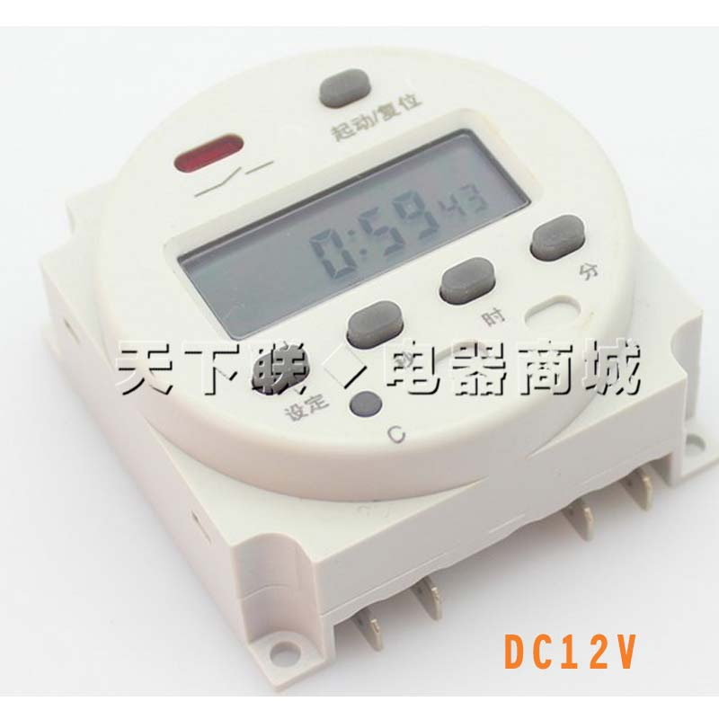Small seconds control infinite loop time switch intermittent time controller DC12V24VAC220V