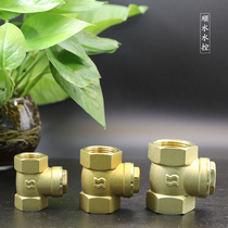 Horizontal brass pipe Pump check valve one-way valve backwater valve 4 minutes 6 minutes 1 inch factory Direct Sales