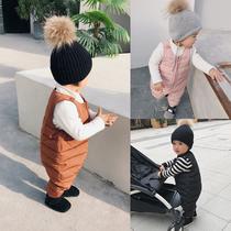 辰辰妈冬季男童加厚女童婴儿保暖裤