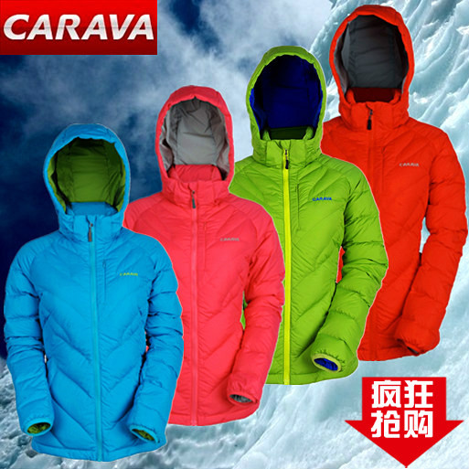 [The goods stop production and no stock][The goods stop production and no stock]Carvale down jacket female models white duck down autumn and winter outdoor waterproof Dongli fabric warm coat CA352302