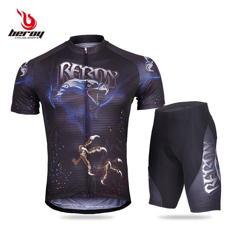 Eagle Men's Cycling Suit Personality Short-sleeved Cycling Suit Fast-drying Dynamic Bicycle Suit Mountain Bicycle Clothing