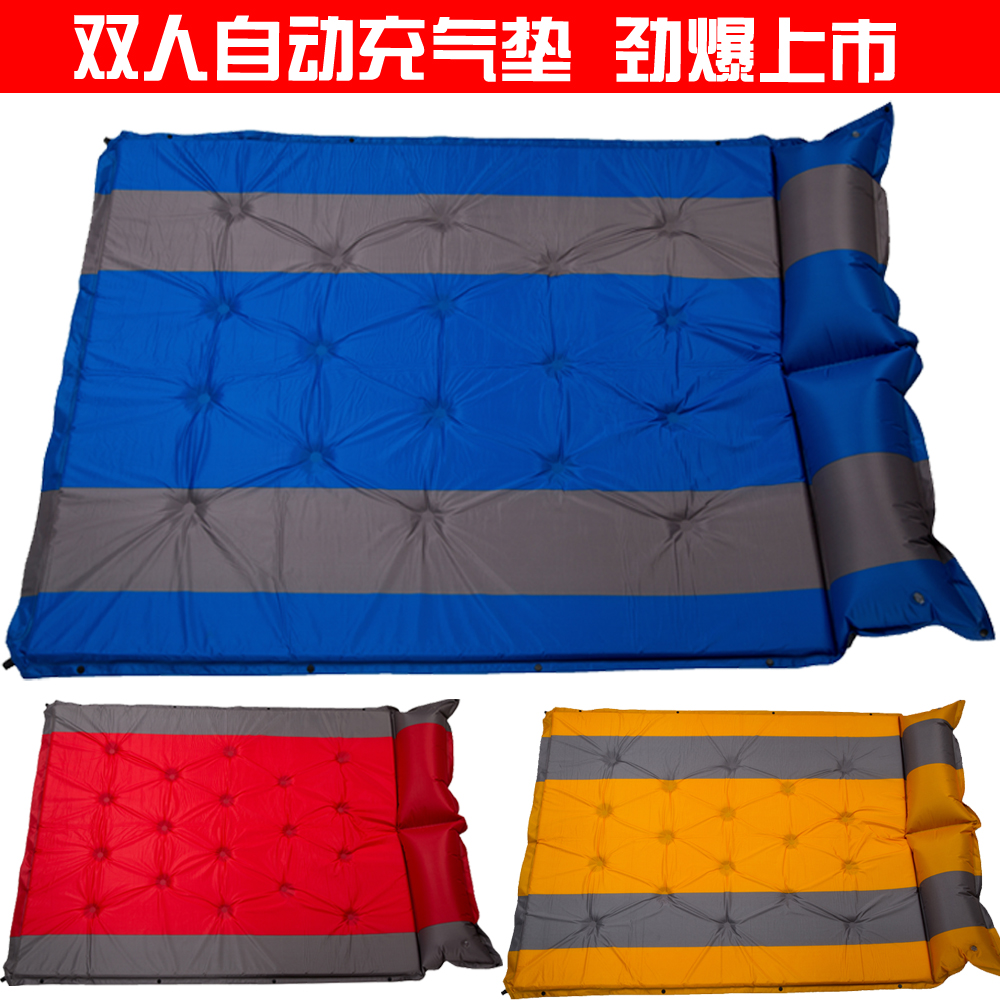 Double Automatic Inflatable Pad Thickened 5CM Moistureproof Pad Camping Foldable Portable Office Sleep Pad