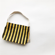 Custom baby boys and girls Korean striped canvas bags do old practical recommendations