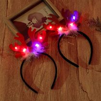 Christmas Decorations Small Gifts creative children adult Christmas Eve gift luminescent headwear Headband Hoop hat