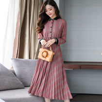 Spring 2018 new Female original bed dress show thin plaid large chic skirt summer tide
