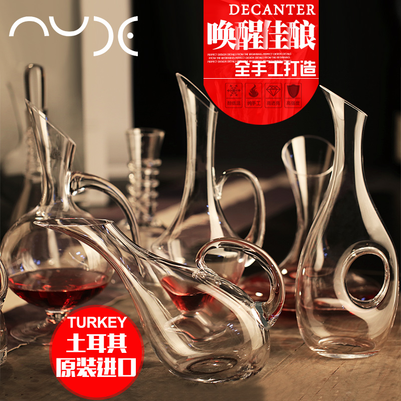 Turkey imported crystal wine decanter fast glass sub-jug red wine glass with lid sealed bottle