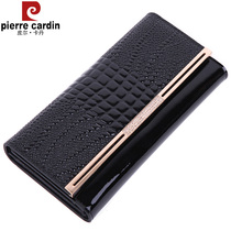 Pierre Cardin genuine leather ladies crocodile pattern card slots wallet