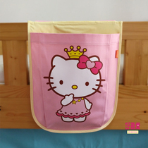 Card organizer child bed tent hanging bag bag girl pink bed half-height bed wall accessories