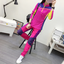 Outdoor sports set female speed pants breathable thin hiking long sleeve T-shirt casual quick clothes set