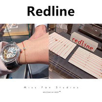redline small red rope pure18k rose gold 10-point round diamond half rope half chain Year of Life lucky bracelet