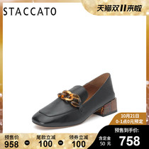 (Wei ya recommended) si Jia Tu 2019 autumn new square head Carrefour shoes pre-sale 15 days delivery Q7082CM9A