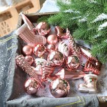 Pink Christmas ball multi-pack Christmas tree pendant luxury gift bag 1.2m 1.5 1.8m Christmas decoration