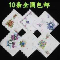 Specials punch a small amount of a handkerchief floral Crescent edge cotton ladies handkerchief elderly cotton elegant handkerchief