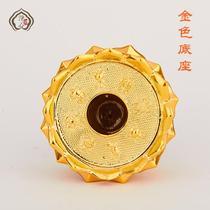 藏式树脂手摇转经筒底座 转经轮底座八吉祥金色莲花底座 佛教用品
