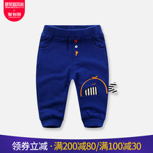 Babies and boys wearing new cartoon trousers, children's casual sports trousers and children wearing all kinds of spring and autumn trousers