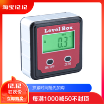 Syntek Electronic digital inclination box high precision with magnetic angle ruler gauge horizontal meter slope measurement