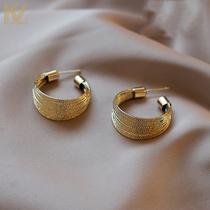 Senior sense earrings women Europe and South Korea web celebrity retro contracted earrings in 2021 new tide sterling silver jewelry
