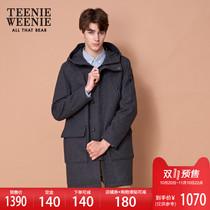 Pre-sale Teenieweenie Bear 2018 Winter New mens wool fur coat midi Hooded Jacket