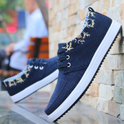 Spring and summer men's breathable canvas shoes casual shoes shoes shoes slip students thick soles old Beijing shoes men