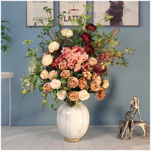 European city flagship store retro light luxury artificial flower simulation flower living room decoration flower dining table flower corner several flower TV cabinet ornament
