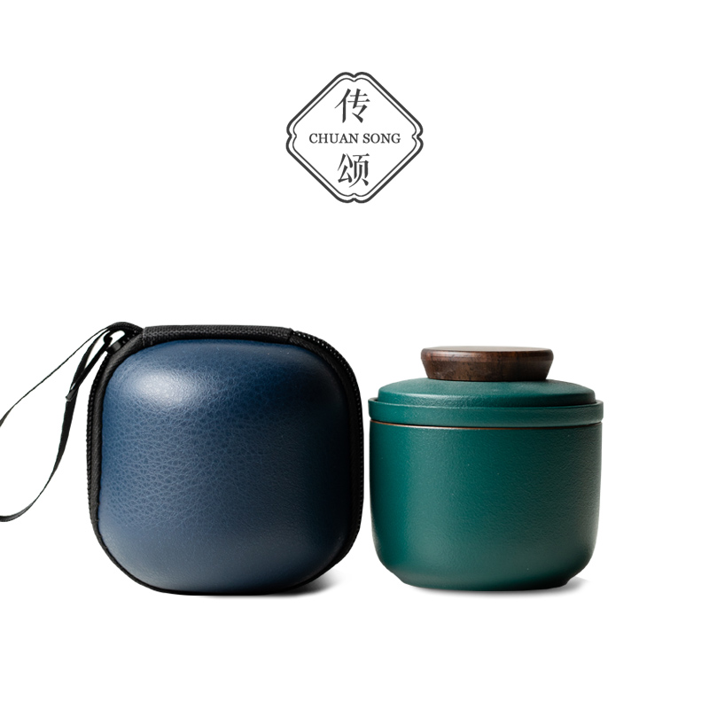 Travel tea set ceramic express cup collection carry-on Japanese single cup home portable outdoor tea cup custom