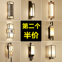 New Chinese wall lamp bedside bedroom lamp living room aisle Antique Creative Hotel Restaurant Club Villa Project Wall lamp