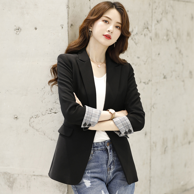 Black suit jacket women Spring and Autumn 2021 new Korean version of the casual small thin net red suit explosion jacket