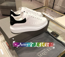 Purchasing McQueen McQueen white shoes MCQ platform shoes thick bottom leisure sports shoes men shoes couple shoes