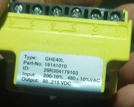 NORD Rectifier Module GHE40L (19141010) Rectifier Block NORD Motor Brake Rectifier GVE20L