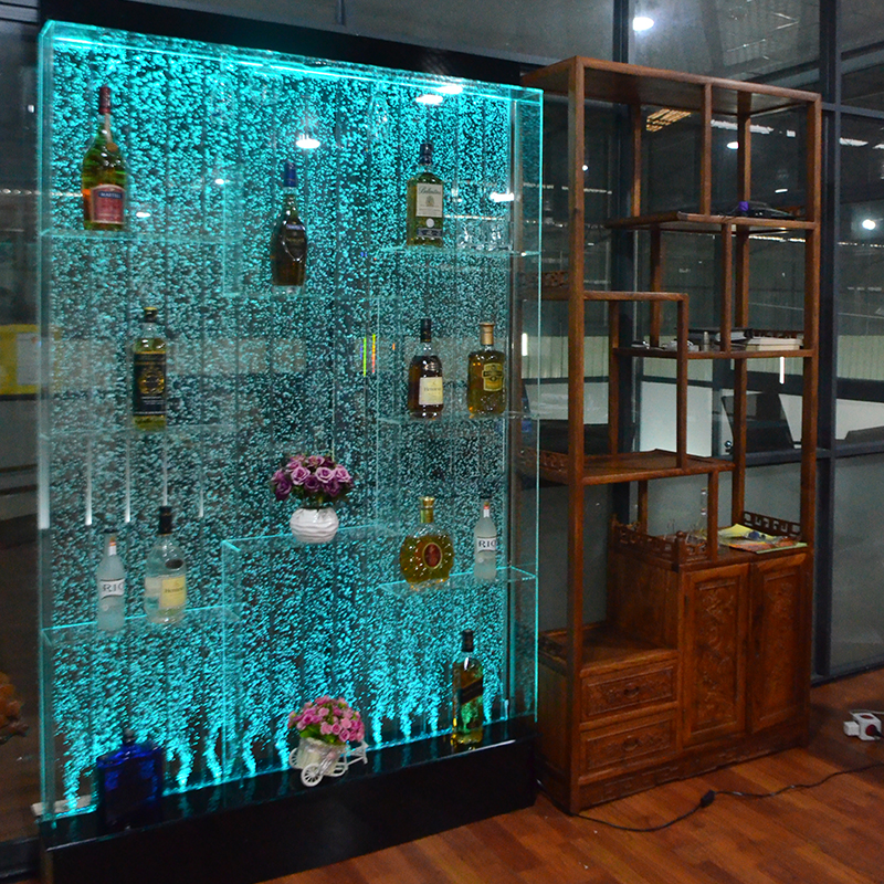 Bubble wall water curtain wall yakli water wall screen cut off Xuanguan living room dining room wine cabinet decorative landscape ornaments