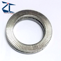 304 stainless steel Double stack anti-loosening self-locking washer DIN25201 double-sided tooth locking gasket M3-M80