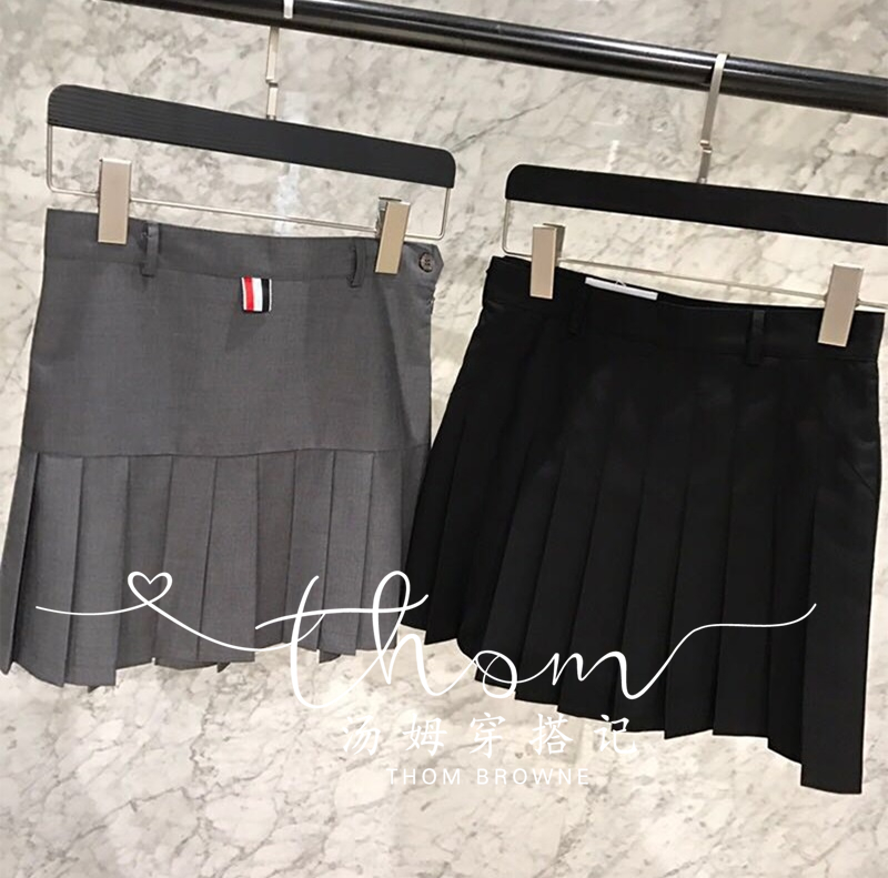 Japan shopping service Thom Browne classic pleated skirt slim slimming TB short skirt female A-line skirt high waist skirt