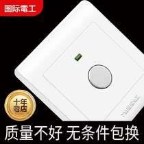 International electrician dark Wall Switch socket Type 86 Home induction Corridor Switch Touch delay switch