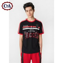 C & a splicing, crash color digital paste Jersey, men's summer Terry cotton printed short sleeved T-shirt CA200205563