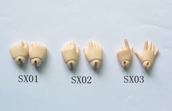 6 points bjd doll hand type multiple optional 1 6bjd mens and womens hand type six points Yosd BB hand type