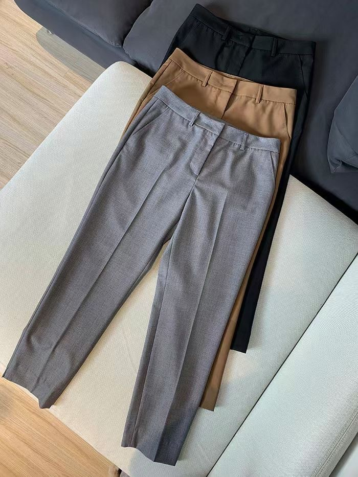 Trousers women summer 2021 new texture commuting good ride thin straight professional nine points pants casual cigarette pants women