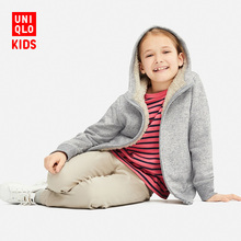Children's wear / boy / girl imitation lamb Hooded Coat 409246 UNIQLO UNIQLO