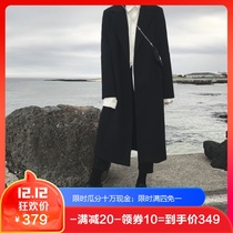 Dark autumn and winter Korean version of the Retro School of literature style coat