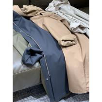 Big fruit store town store series~Jinkou fabric windproof waterproof too good-looking three-color long cape coat