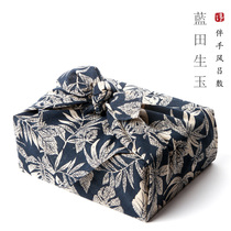 Time mountain) Chinese idyllic style pure handmade personality gift Box packaging wind apply baggage leather