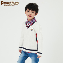 Pawinpaw cartoon bear children's wear 2020 new spring boys' sweater V-Neck long sleeve children's leisure