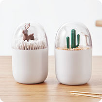 Nordic Toothpick Box personality Creative Toothpick Barrel Home restaurant living room cotton swab storage box portable cute toothpick bucket