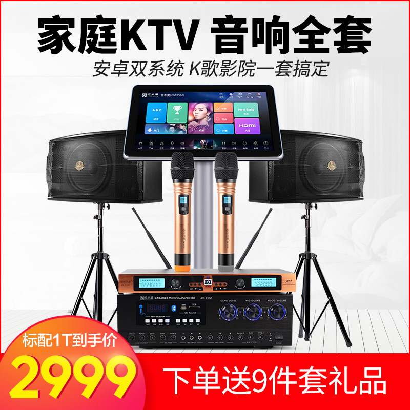 Visual Star TZ700 Home KTV Sound Suite Full Set of Home Small K-Song Professional Integrative Digging Machine Wireless