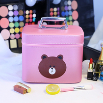 Korean brand I cosmetic bag large capacity portable storage box goods ins cute girl small square cosmetic case portable