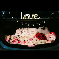 The Reserve box proposal package romantic confession Valentines birthday props girl Heart Lantern series Creative Letter Light