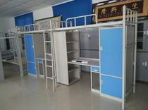 Wenzhou Special iron bed medical bed apartment bed bunk beds student staff upper and lower bunk with desk cabinets
