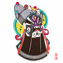 Yuxian color paper-cut Beijing Opera Facebook decorative window flowers to send foreigners monochrome characteristics of traditional crafts.