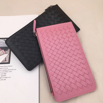 Barry Family New Sheepskin handmade pure hand-woven multi-card pack leather Fashion Wallet card clip