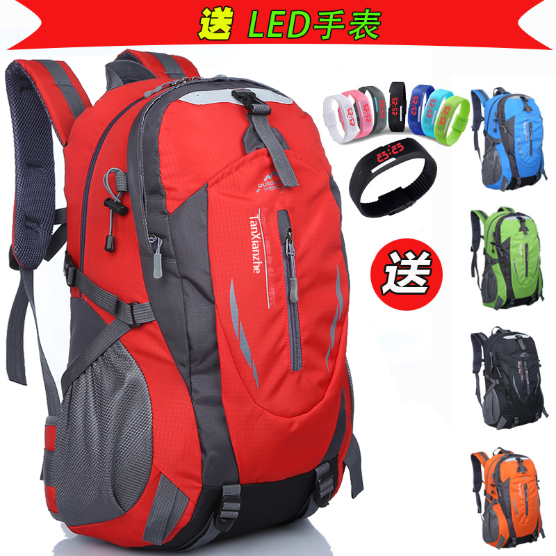 New outdoor mountaineering bag large-capacity school bag travel backpack men's sports bag female Korean version of computer travel backpack